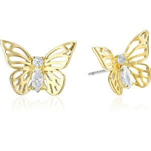 New Kate Spade Rose Gold Butterfly Stud Ea…